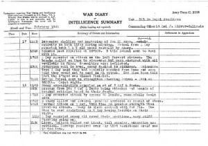 Il rapporto che descrive il combattimento nel quale perse la vita il padre di Roger Waters