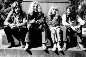 1970, da sin.: John Bonham, Robert Plant, Sandy Denny e Jimmy Page