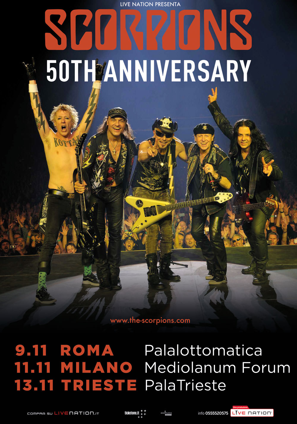Scorpions: Return To Forever – 50th Anniversary, tre date ...