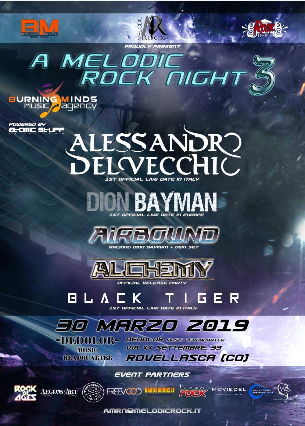 A Melodic Rock Night 3 – Tutti i dettagli dell'attesa terza edizione